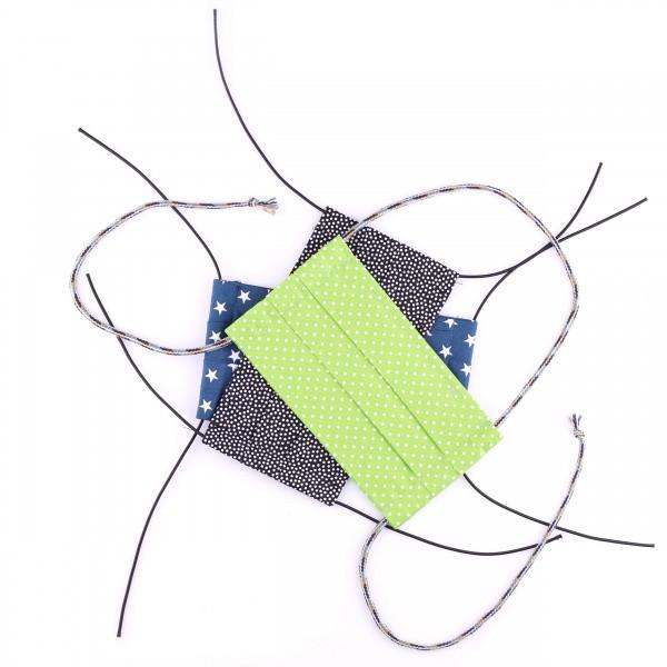 Mund-Nasen-Maske - Baumwolle - waschbar - 3er-Set - 1