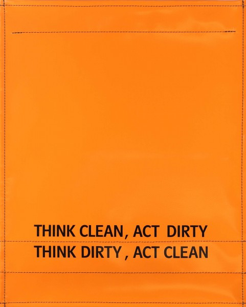 exchangeable cover for bag - Think dirty - orange - size L