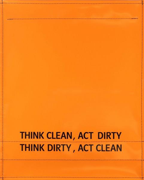 Wechselcover für Tasche - Think dirty - orange - Größe L