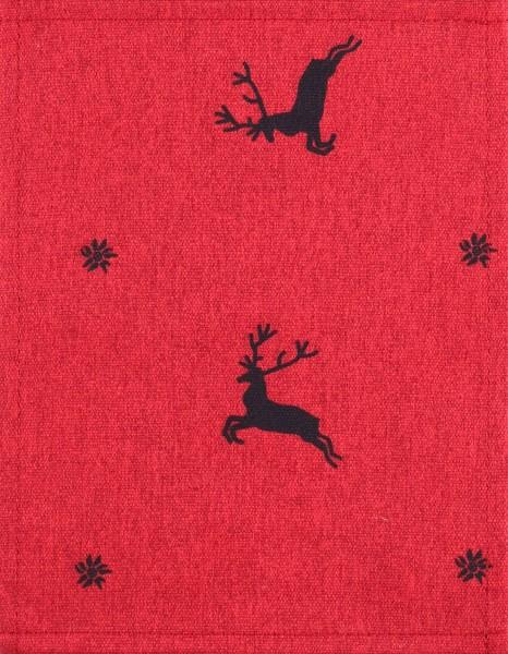 Wechselcover für Tasche - Fliegender Hirsch - rot/schwarz- Größe S