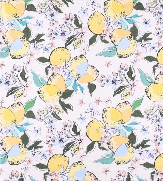 Wechselklappe für Umhängetasche - Zitronenblüten - gelb - Größe M