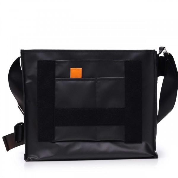 Messenger Bag - customizable - hip belt - Nomadin - black matt - 1
