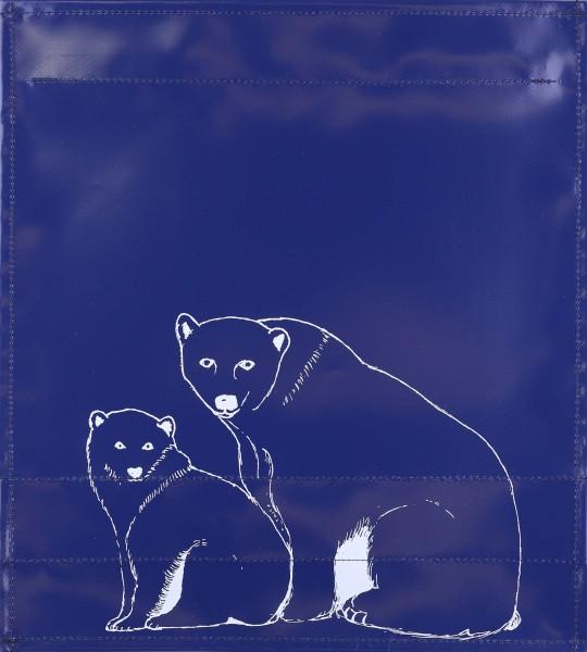 Wechseldeckel für Tasche - Eisbär - dunkelblau/weiß - Größe M