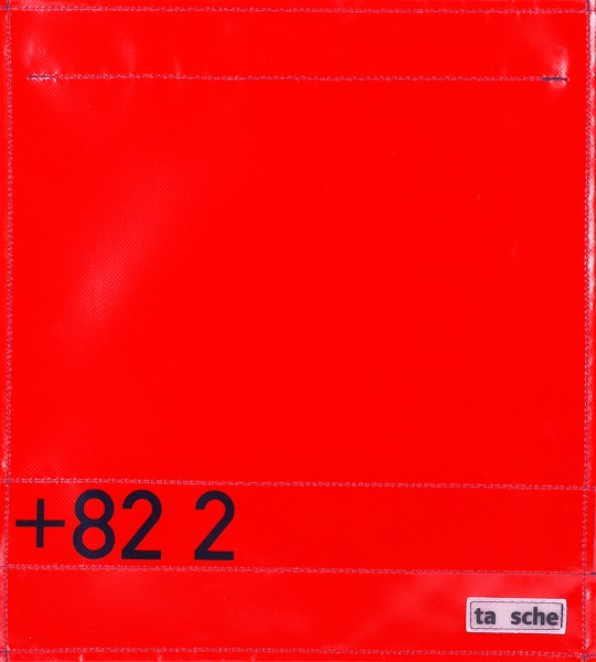 Exchangeable lid for bag - 82 2 - red - size M