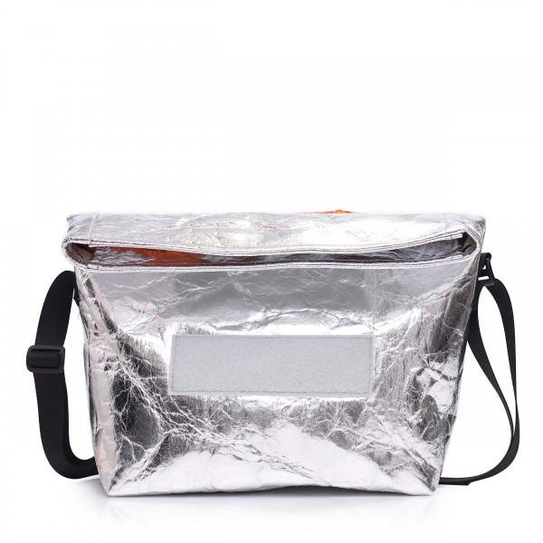 Handtasche - wandelbar - aus Ananasfaser - Komplizin - silber - 1