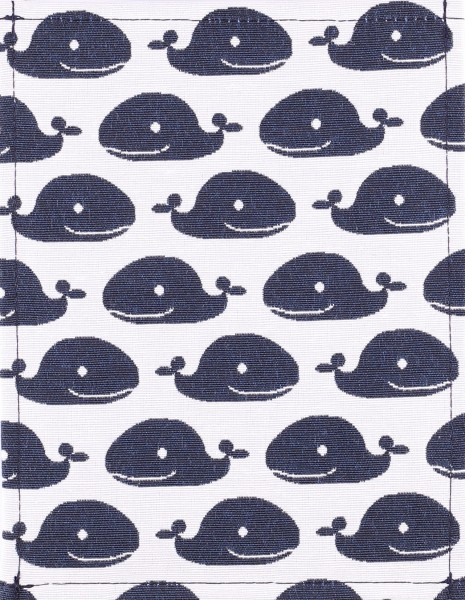 Exchangeable cover for handbag - Happy whales - Size S - ♥