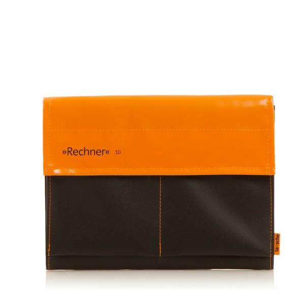 Laptophülle - Computer - Rechner 10 - Plane/Mesh - orange/schwarz - 1