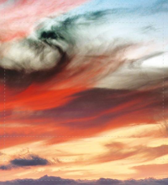 Wechseldeckel für Tasche - Bunte Wolken - bunt - Größe M