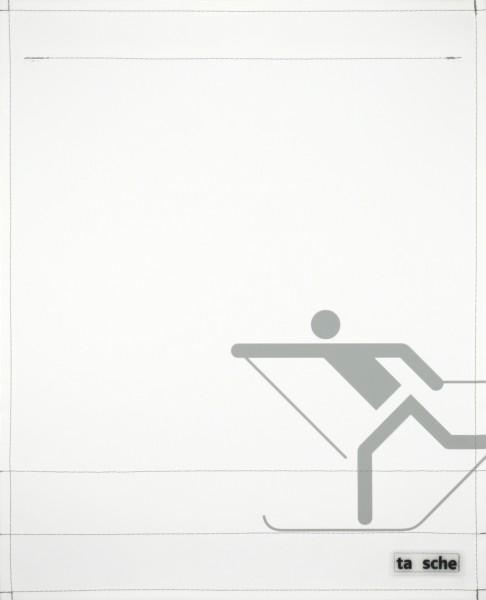 Deckel L - Skifahrer weiß/hellgrau