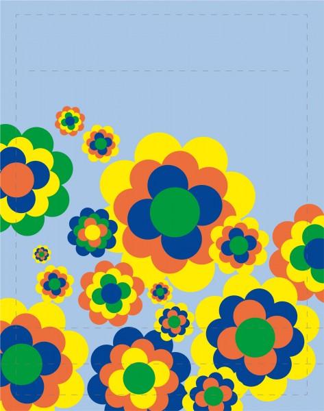 Deckel S - Bunte Blumenwelt
