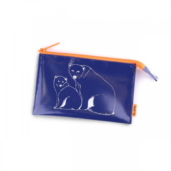 Culture bag - truck tarpaulin - polar bear - dark blue - 1