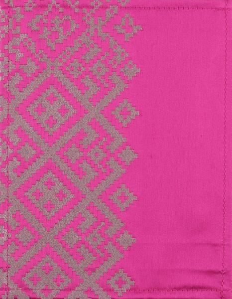 Wechselcover für Handtasche - Ikat Beere - lila-silber - Größe S