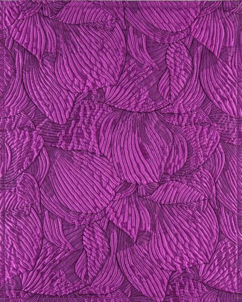 Deckel L - Lila Knitterrelief