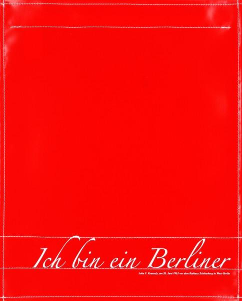 Wechselcover für Tasche - Ich bin ein Berliner - rot/weiß - Größe L