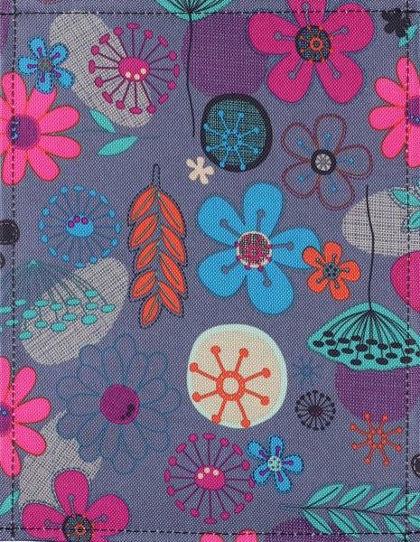 Interchangeable bag lid - Naive flowers - multicoloured - size S