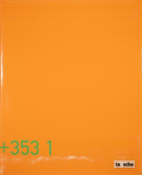Exchangeable flap for shoulder bag - area code Dublin - orange - size L