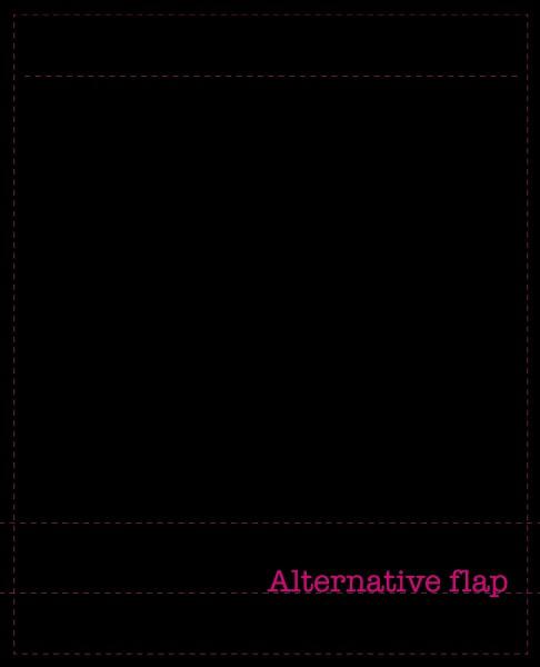 Exchangeable flap for shoulder bag - Alternative Flap - black - size L