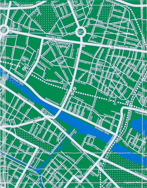 interchangeable lid for bag/backpack - city map - green/white - size S