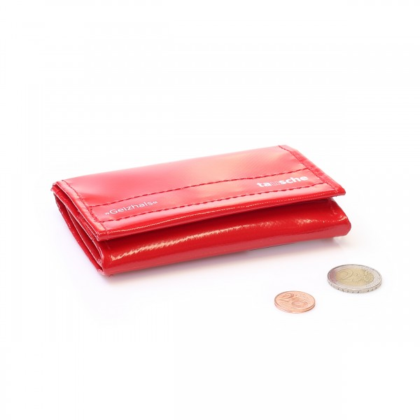Portemonnaie aus roter Plane