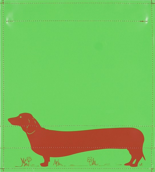 Exchangeable cover for backpack - Dachshund - green - size M