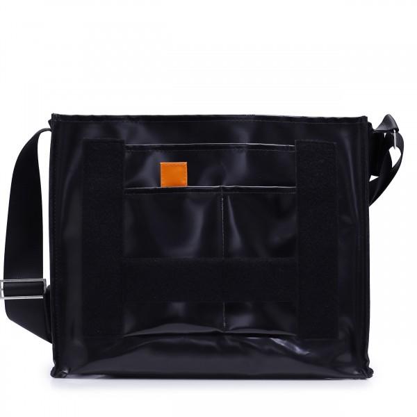 Messenger Bag - individualisierbar - Hüftgurt - Nomadin - schwarz - 1