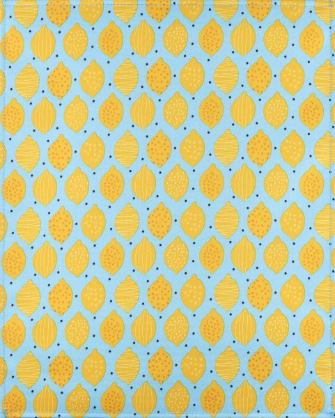 Wechselklappe für Umhängetasche - Lemon Love - türkis/gelb - Größe L