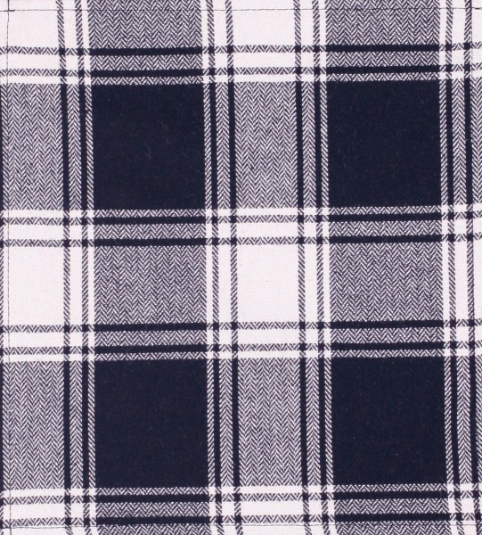 Exchangeable cover for bag - Tartan Check - white/black - size M
