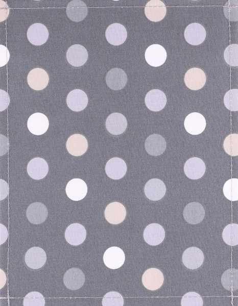 Exchangeable cover for bag - Polka Dots - grey - size S