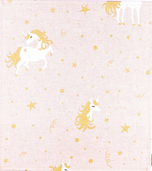 Exchangeable flap for bag/backpack - Unicorn - beige/gold - size M