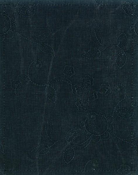 Exchangeable cover for handbag - Jeans flower tendril - blue - size S