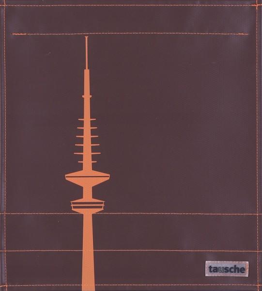 Deckel M - Hamburg Fernsehturm braun/orange