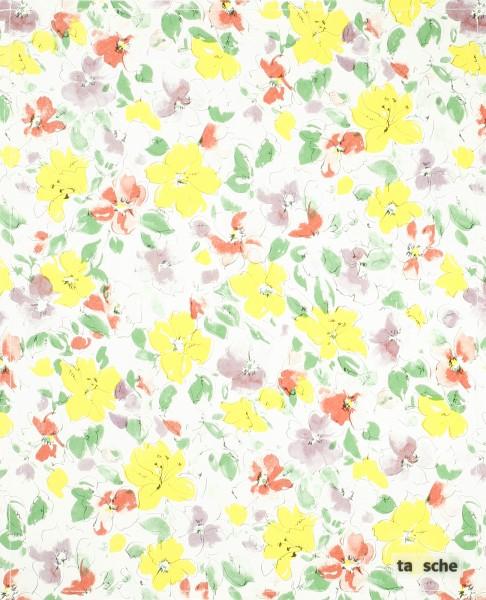 Deckel L - Wachstuch Blumen