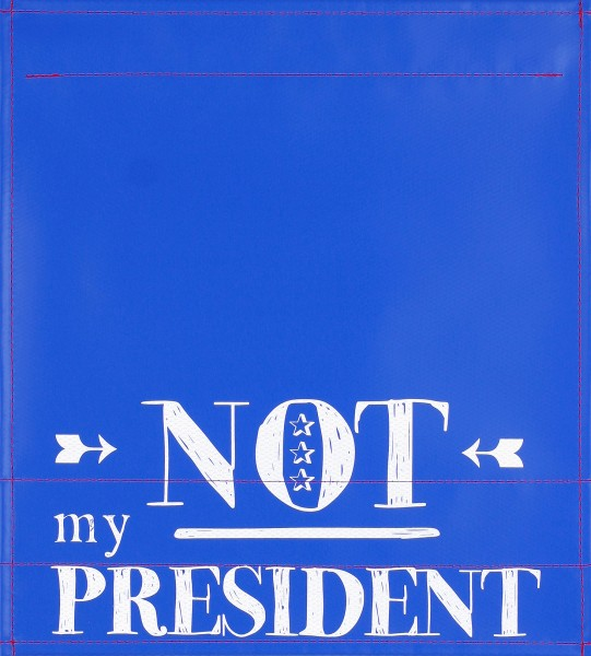 Exchangeable Lid for Bag - Not my president - blue/white - Size M