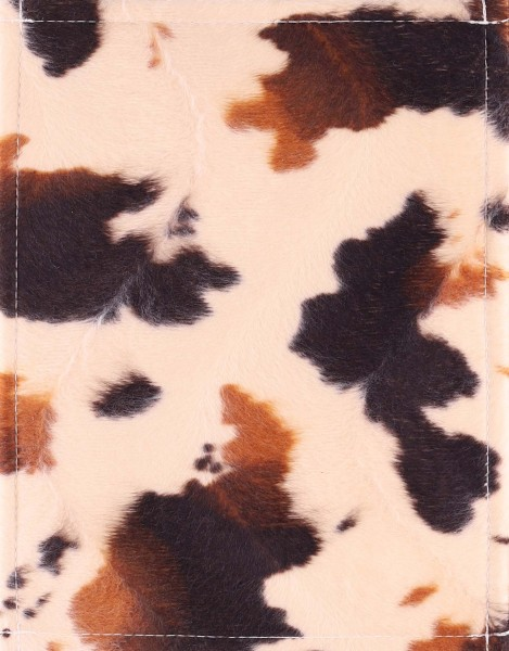 Exchangeable cover for handbag - false cowhide - ochre/brown - size S