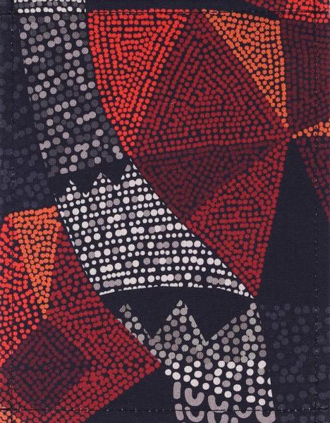 Wechselklappe für Tasche - Inka Dots - schwarz/rot - Größe S