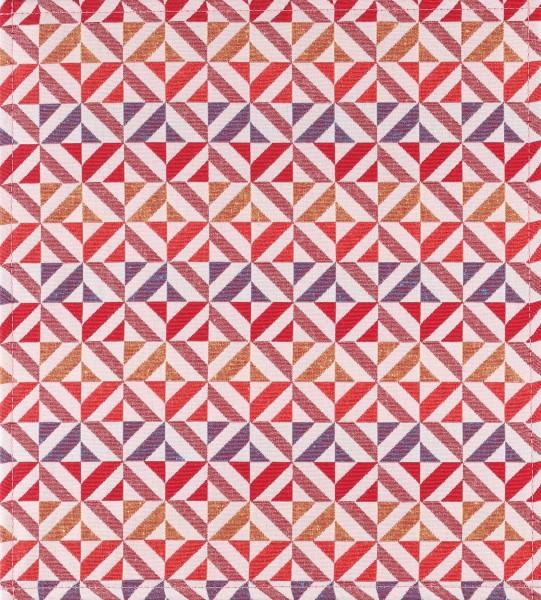 Wechselcover für Tasche - Dreiecke rosé - bunt - Größe M