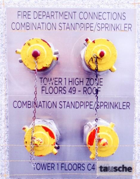 Wechselklappe für Tasche - Sprinkler - grau/gelb - Größe S