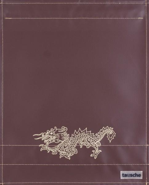 Deckel L - Drachen braun/gold