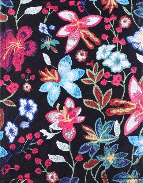 Wechselcover für Tasche - Blütenzauber - schwarz/bunt - Größe S