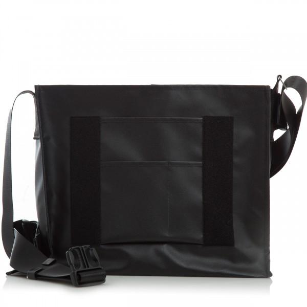Messenger Bag - individualisierbar - Hüftgurt - Nomadin - schwarz matt - 1