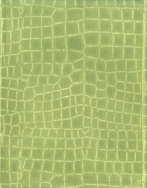 Exchangeable flap for bag - crocodile - light green metallic - size S