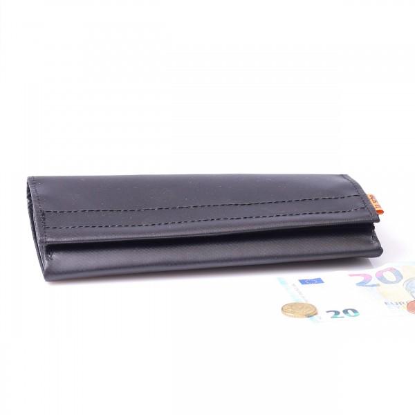 Wallet - truck tarpaulin - millionaire - large - black - 1
