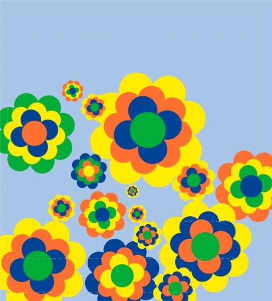 Deckel M - Bunte Blumenwelt