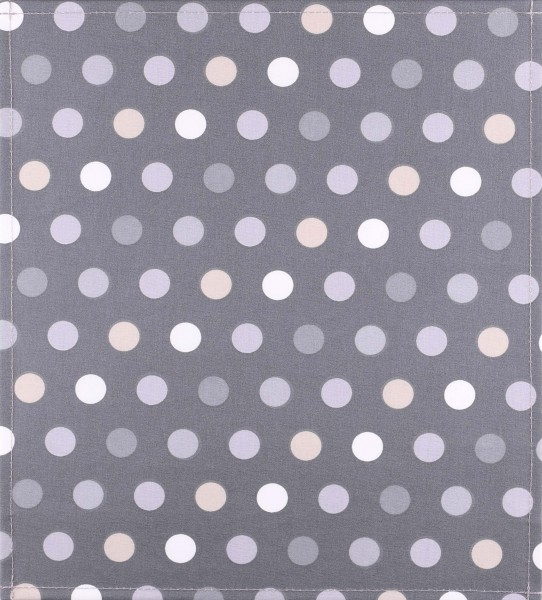 Exchangeable cover for bag - Polka Dots - grey - size M