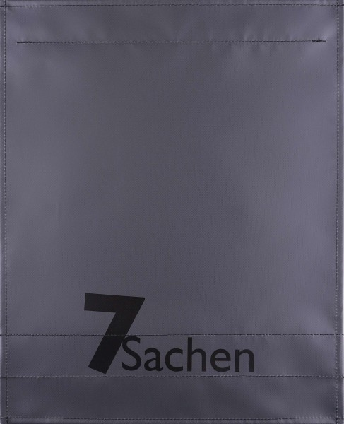 Exchangeable lid for bag - 7 things - anthracite - size L