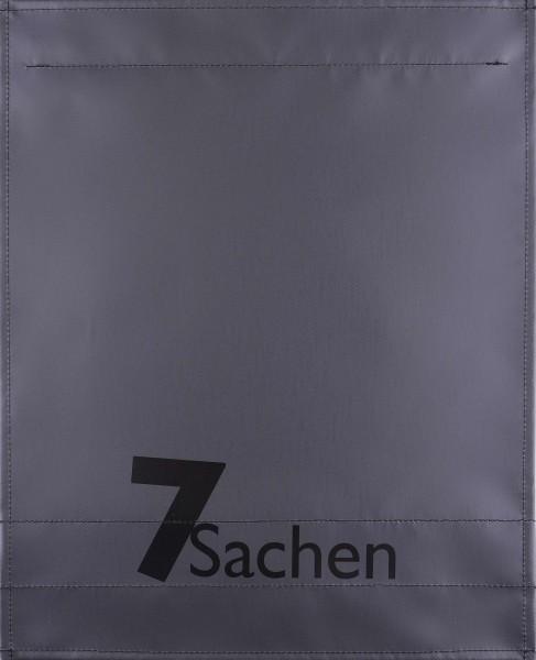 Wechseldeckel für Tasche - 7 Sachen - anthrazit - Größe L