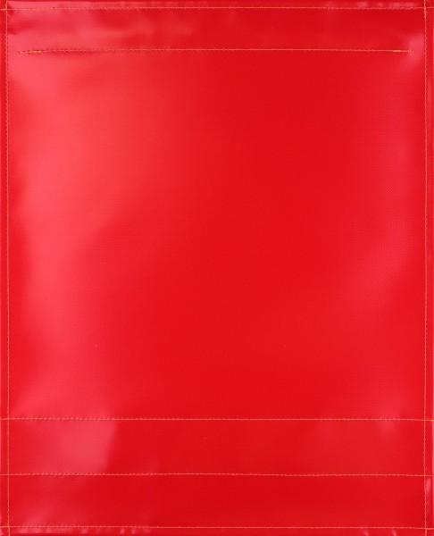Wechselklappe für Umhängetasche - LKW-Plane pur - rot - Größe L