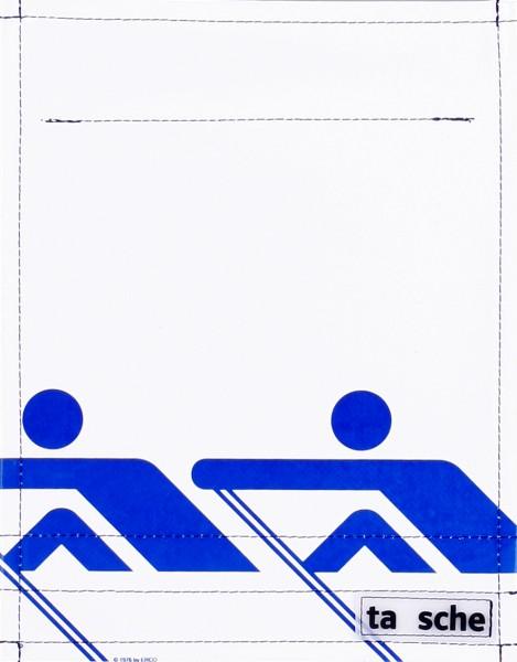 Wechseldeckel für Tasche/Rucksack - Ruderer - weiß/blau - Größe S