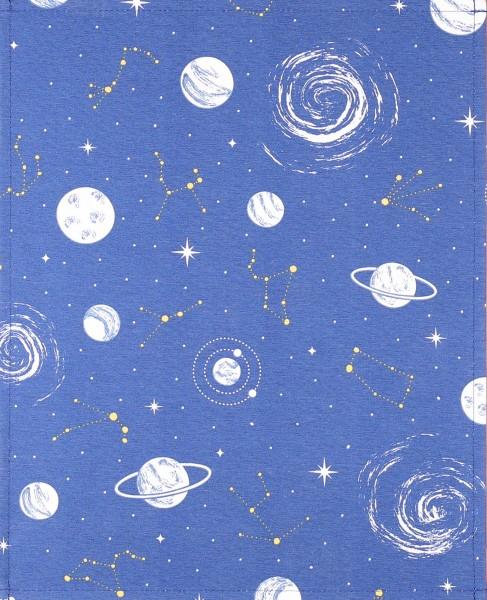 Wechselcover für Tasche - Galaxie - blau/weiß - Größe L