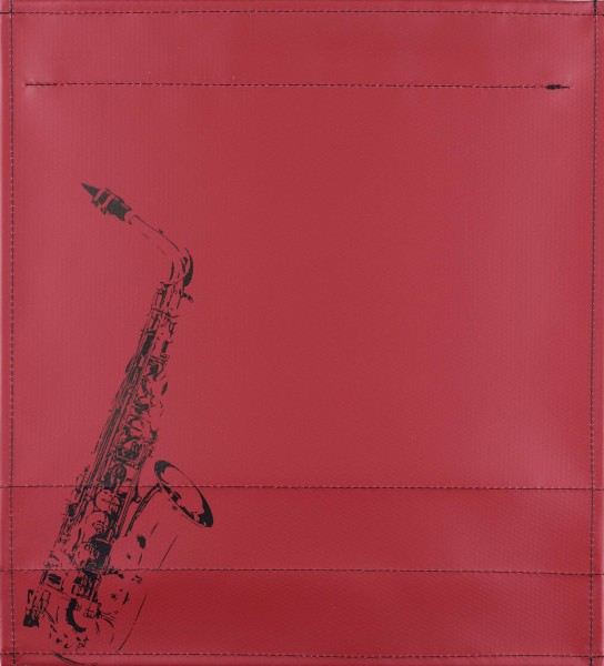 Interchangeable cover for bag - Saxophone - burgundy - size M